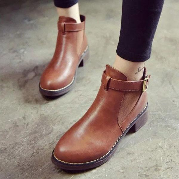 Margaret - Flat Ankle Boots