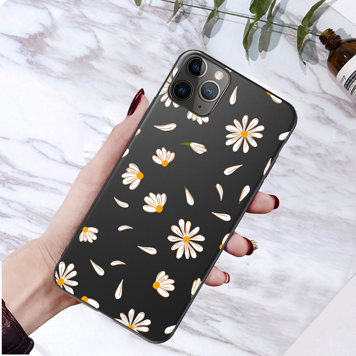 bluesea Art Floral Daisy Phone Case For iPhone 11 X XR XS Max 6S 7 8 7Plus 5 Fashion Daisy Flower Case Soft TPU Back Cases Cover