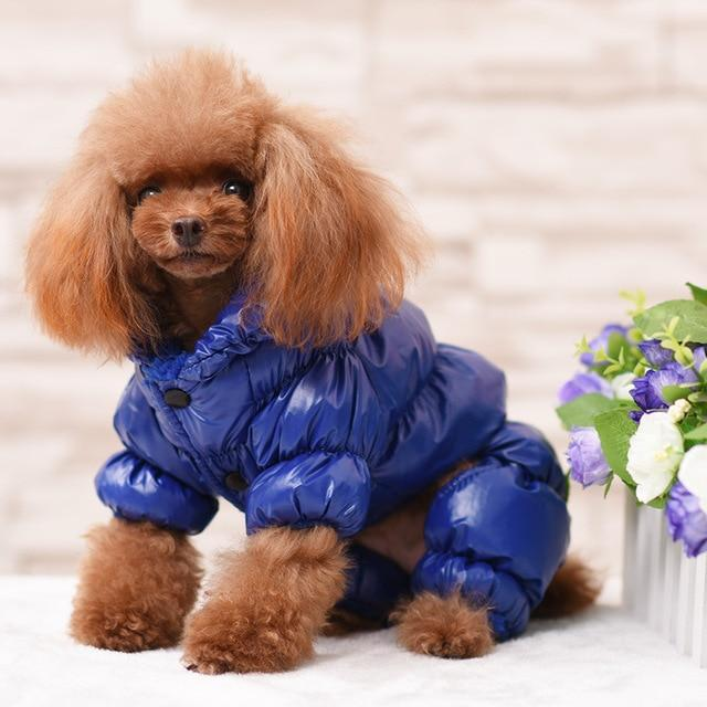 Water Proof Puffy Jumpsuit / Snowsuit for Small Dogs in 5 different Colors and 6 Sizes