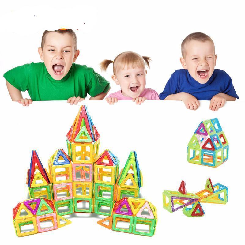 112PCS MAGNETIC BUILDING BLOCKS FOR KIDS