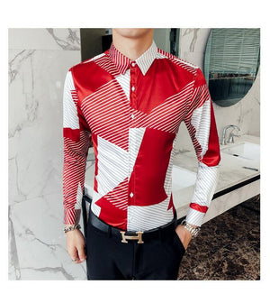 Long Sleeve Slim Fit Casual Shirt
