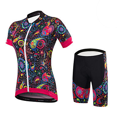 Women's Short Sleeve Cycling Jersey with Shorts