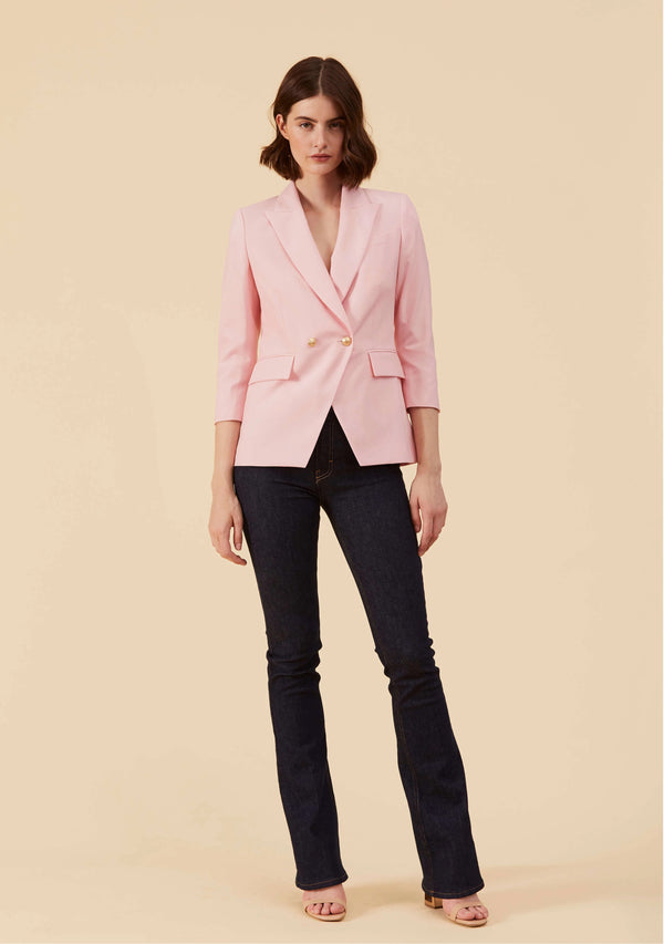 Adelia Pink Blazer Feminine| Best Blazer Jacket Coat Outwear For Women | Thisisher.Style