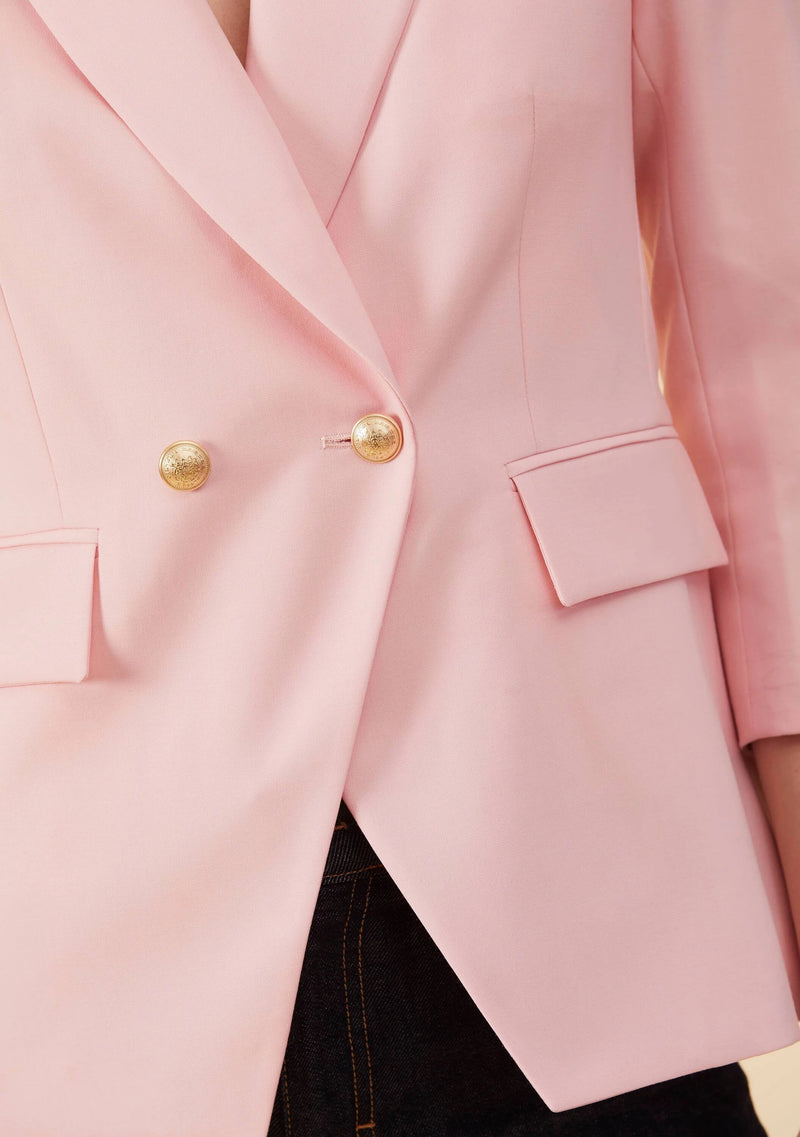 Adelia Pink Blazer Feminine | Slim Fit Blazer Style Tailored Outwear For Ladies | Thisisher.Style