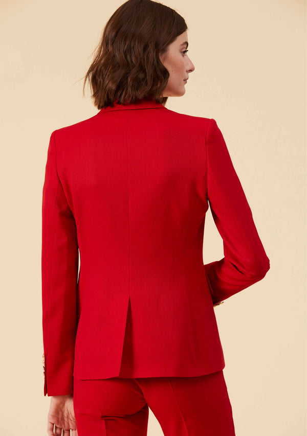 Colette Red Blazer |Slim Fit Blazer Style Tailored Outwear For Ladies | Thisisher.Style