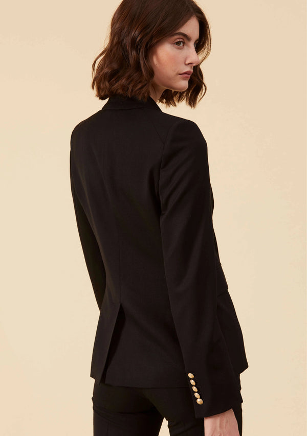 Etienne Black Blazer | Slim Fit Blazer Style Tailored Outwear For Ladies | Thisisher.Style