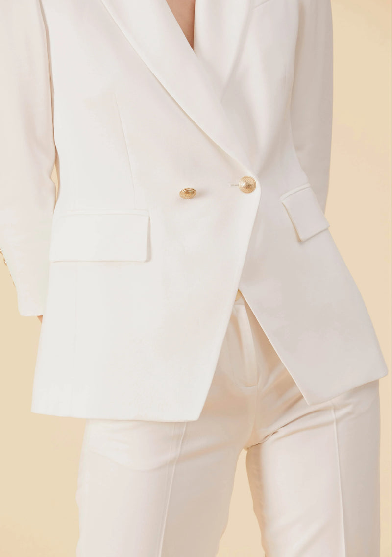 Marguerite White Blazer | Slim Fit Blazer Style Tailored Outwear For Ladies | Thisisher.Style