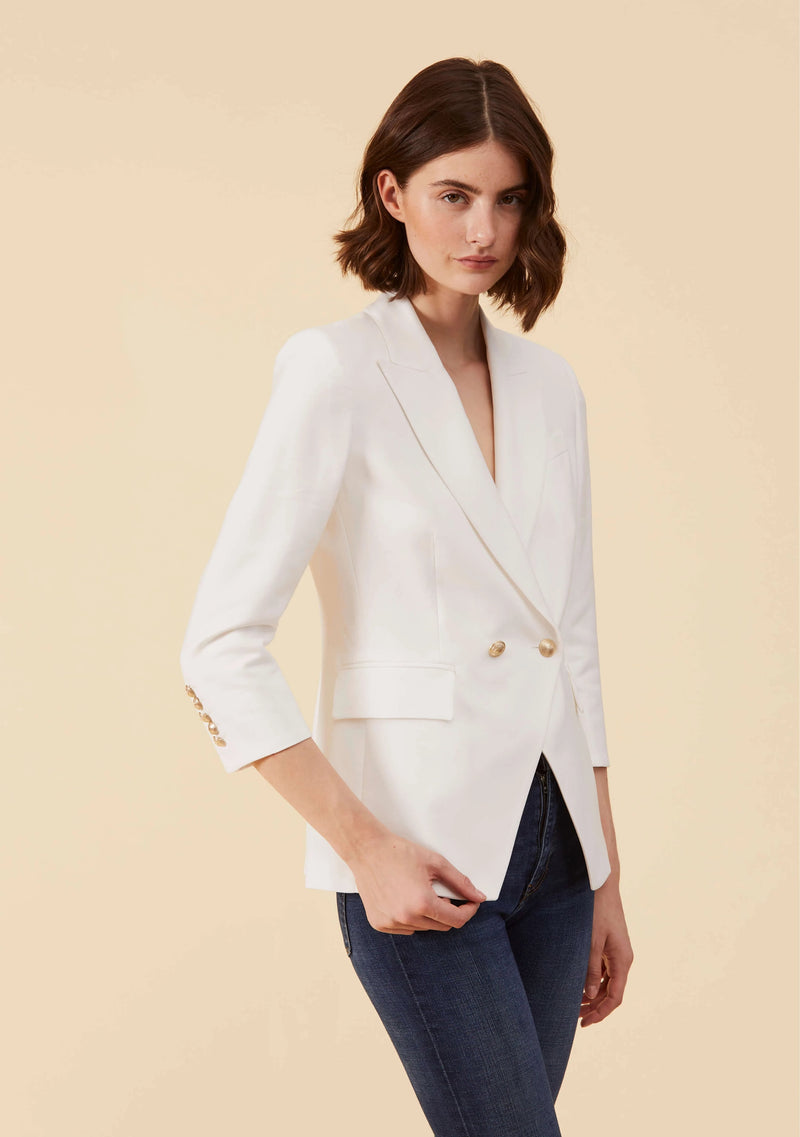 Marguerite White Blazer | Luxurious Casual Dress Blazers For Women | Thisisher.Style