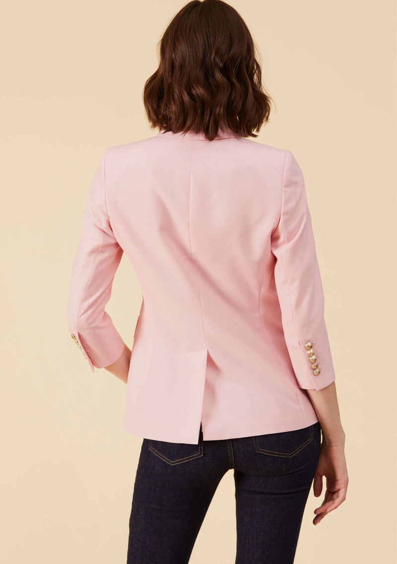 Adelia Pink Blazer Feminine | 100% Wool Blend Style Blazers For Ladies | Thisisher.Style