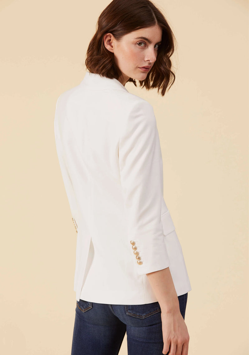 Marguerite White Blazer | Premium 100% Italian Viscose Style Blazers For Ladies | Thisisher.Style