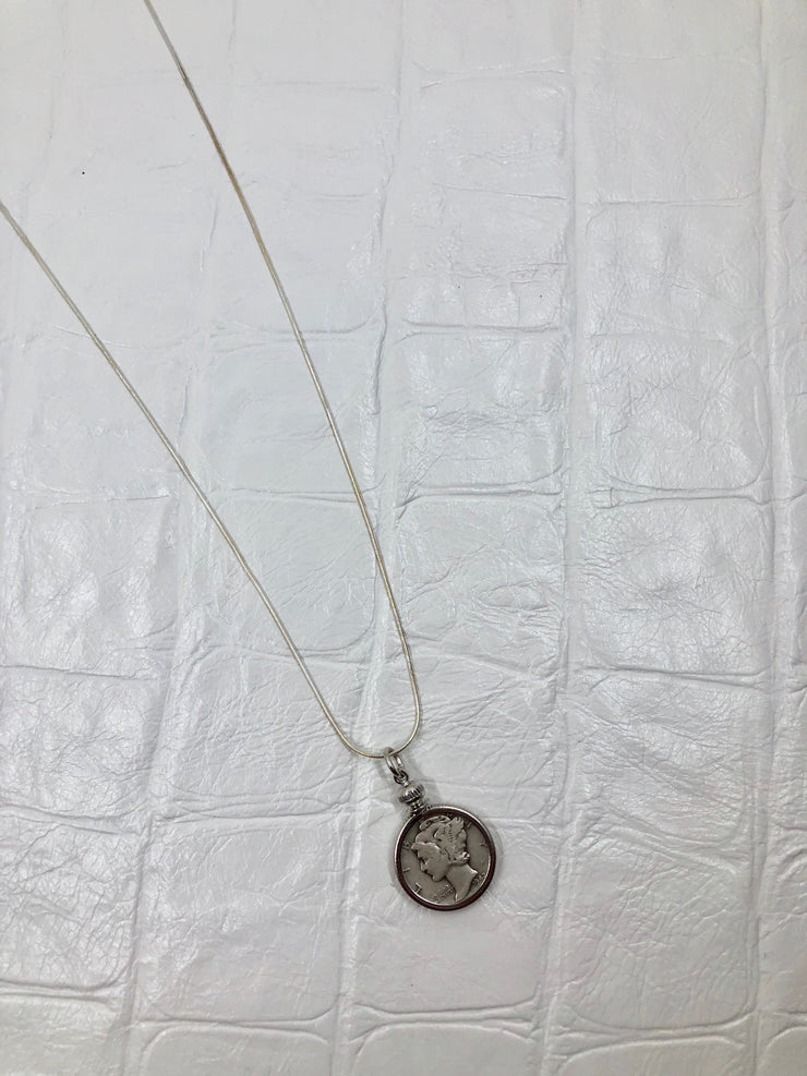 Mercury Dime Necklace