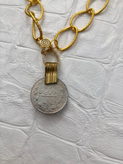 Persian Coin on Gold Link