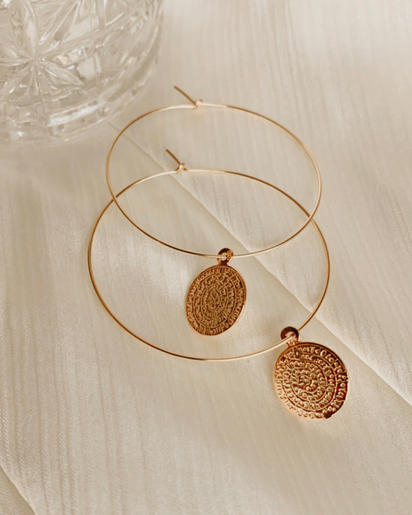 Greek Goddess Hoop Earrings