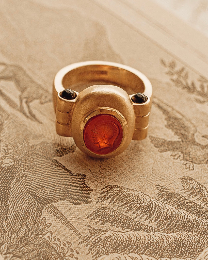 Vintage Roman Cameo Ring