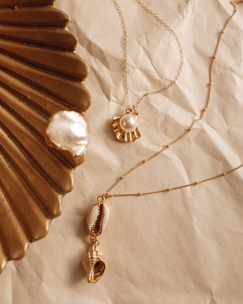 Golden Conch Shell Necklace