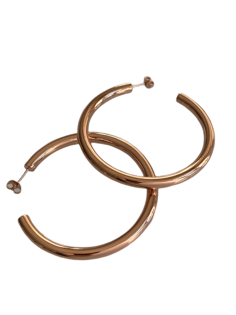 Rose Gold Hoops - 3 Sizes