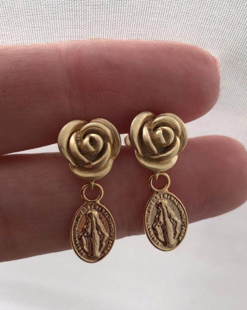 Rose of Madonna Earrings