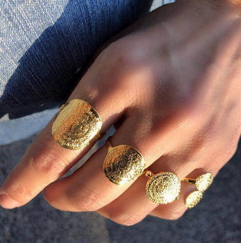 Gold Disc Rings