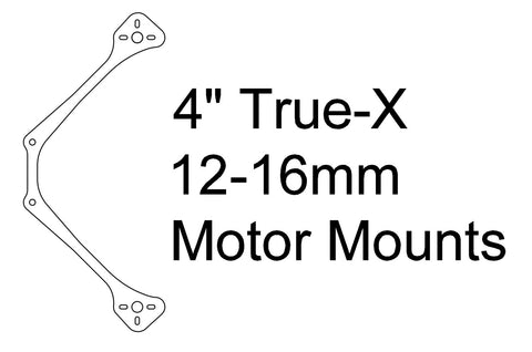 "Arm: 4"" ""LITE"" True-X 12-16mm Motor Spacing 4MM THICK"