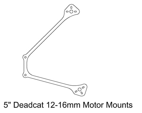 "Arm: 5"" Deadcat 12-16mm Motors Spacing"
