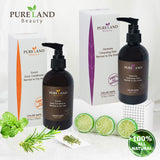 Pureland Beauty Harmony Cleansing Dew - All Natural Hair Shampoo for Normal to Dry Scalp - Sulfate Free and 100% Plant-Based - All Hair Types Women & Men - Safe for Color Treated Hair - 8.5 oz.