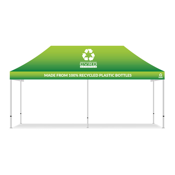 10x20 100% Recycled Custom Printed Pop Up Tent