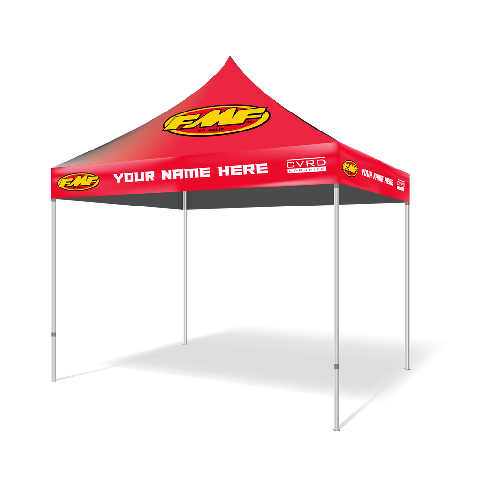 Team FMF® 10x10 Custom Printed Pop Up Tent | Includes Slip-Cover, Free Shipping Within Continental United States, Tax Included