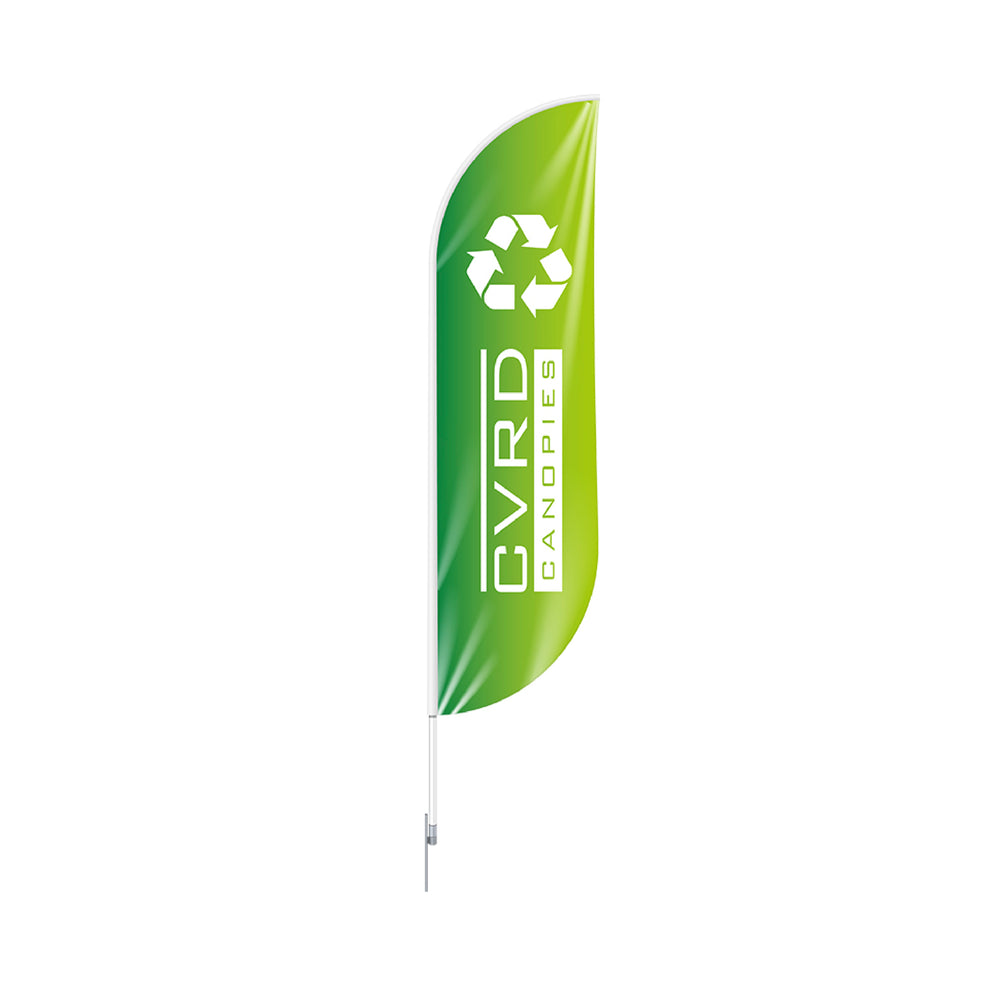 100% Recycled Custom Printed Feather Advertising Flag