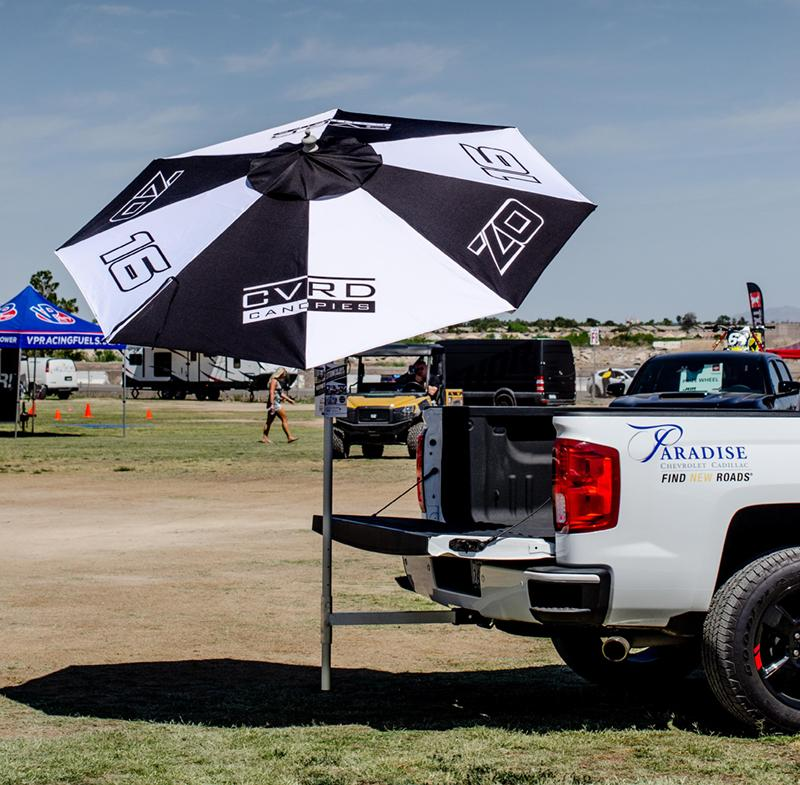 Zach Osborne Signature Tail Gate Umbrella with Aluminum Tail Gate Hitch