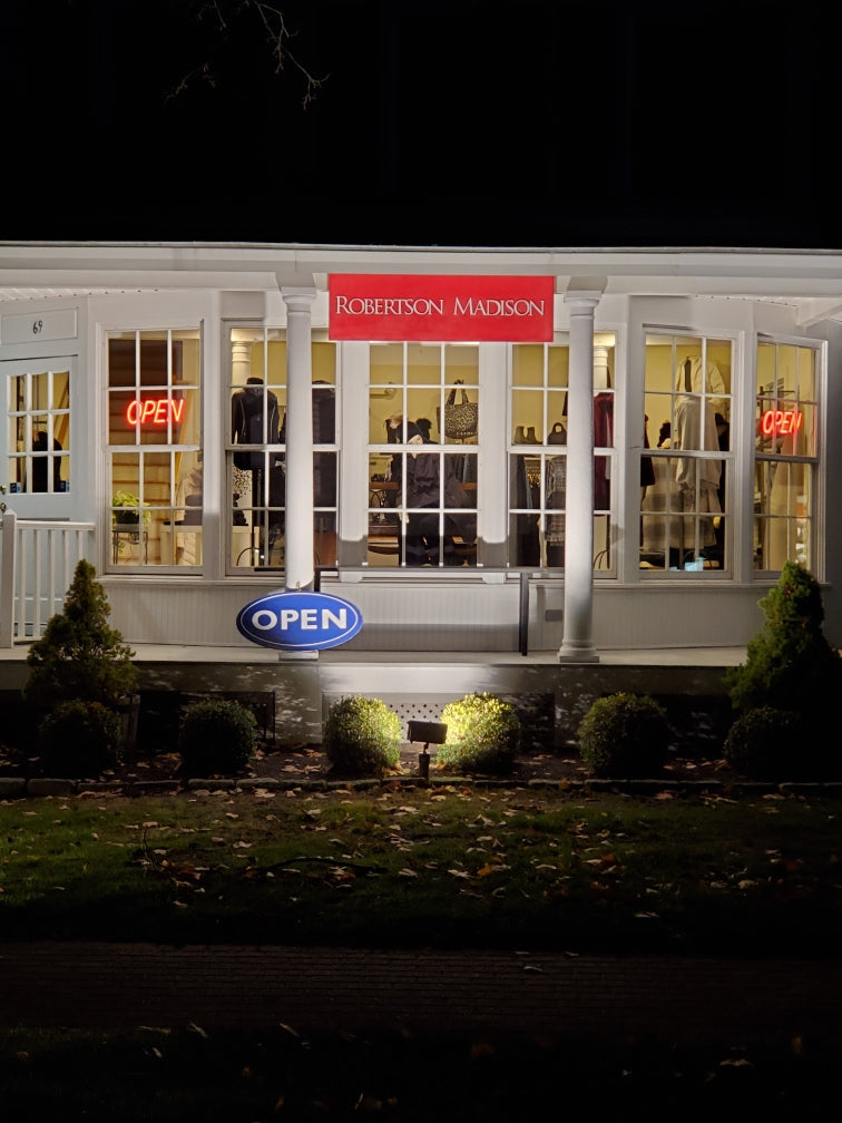 Robertson Madison Store Front At Night