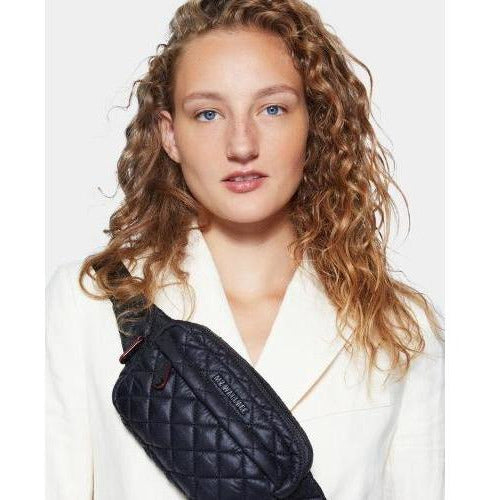 MZ Wallace Metro Belt Bag Black Quilted Nylon  | Shop MZ Wallace Travel Essentials Today