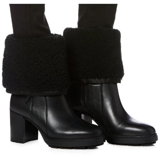 Aquatalia Ishana Calf Nylon Shearling Bootie 34L2952 | Clearance Sale | Final Sale
