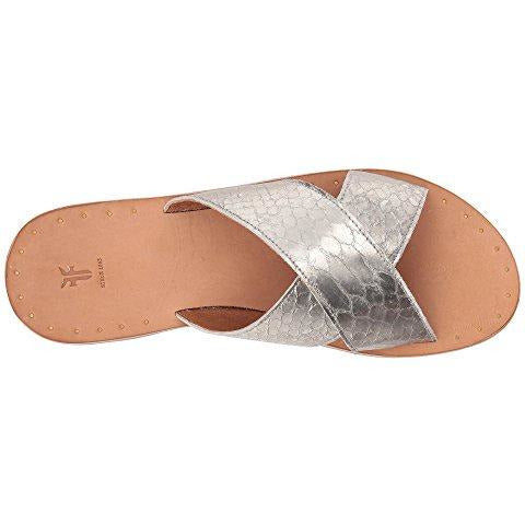 Frye Ally Criss Cross Metallic Slide