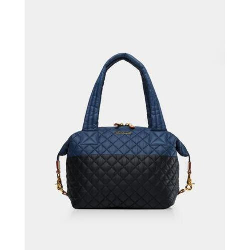MZ Wallace Colorblock Quilted Medium Sutton Bag | Black/Navy