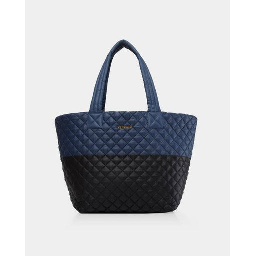 MZ Wallace Medium Metro Tote 376046 | Black/Navy Colorblock