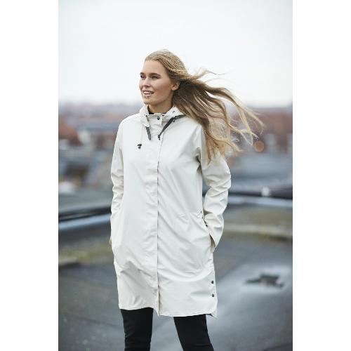 Ilse Jacobsen Hornbæk  Rain 71 Hooded Rubberized Coat