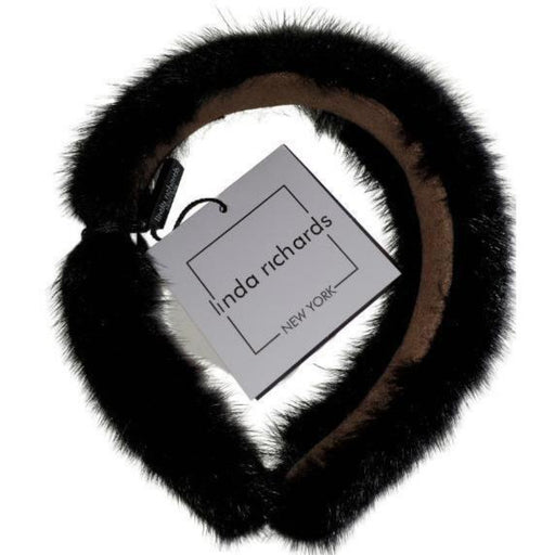 Linda Richards Mink Hairband MHB-01 |Black
