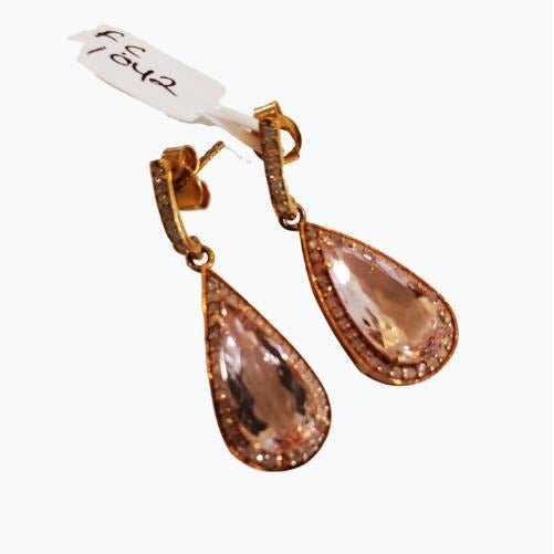 FC Creations 18K Rose Gold Morganite Earrings