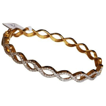 FC Creations 18K Gold Diamond Bangle Bracelet