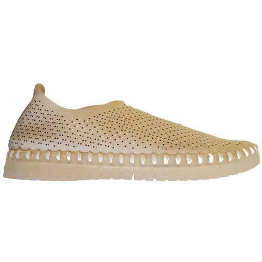 Ilse Jacobsen Hornbæk Tulip138 LUX Sparkle Perforated Slip On Sneakers | Kit 144/Gum Bottom