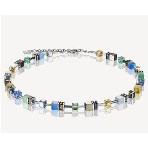 Copy of CŒUR de LION GeoCUBE® Necklace | Gentle-283810576 Blue/Yellow