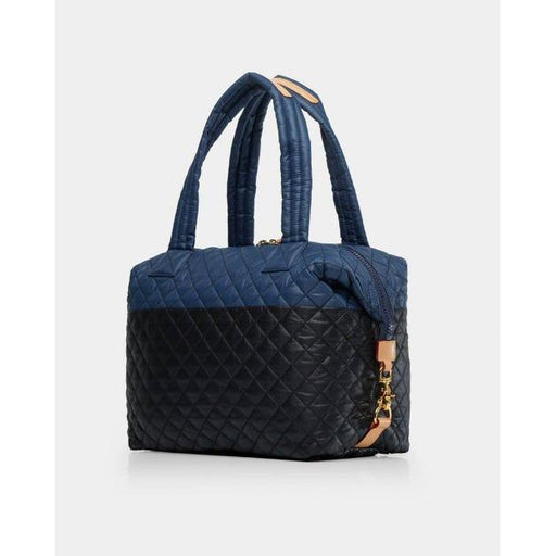 MZ Wallace Quilted Black/Navy Color Block Large Sutton Bag | Shop MZ Wallace Metro Collection