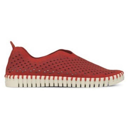 Ilse Jacobsen Tulip 139 Perforated Slip On Sneakers | Deep Red