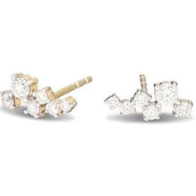 Adina Reyter Scattered Diamond Posts 14 K Gold | Yellow Gold Diamond Earrings