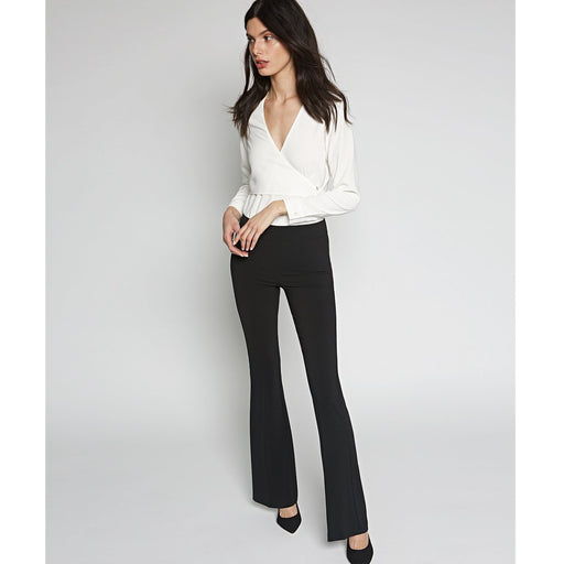 Avenue Montaigne Bellini Pull On Flare Bottom Pants | Black Polyviscose F954