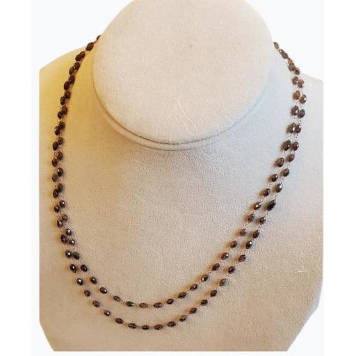 FC Creations 18K Gold Chocolate Diamond Necklace 36""