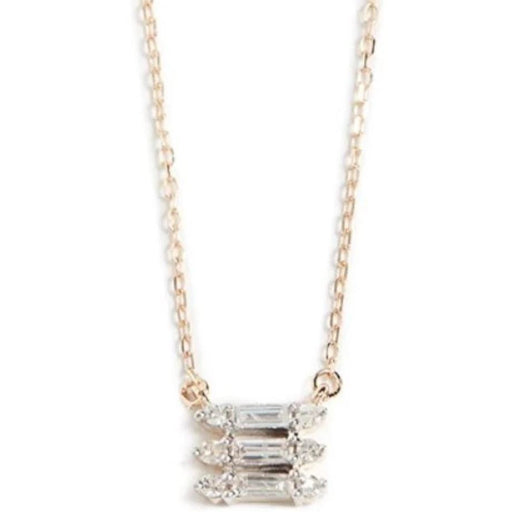 Adina Reyter Jewelry Triple Stack Baguette Necklace | Shop Adina Reyter