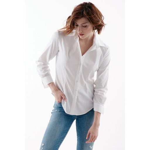 Finley Shirts Johnny Shirt Fitted Button Front Shirt  2955069 White | Shop Finley Shirts Today and enjoy free shipping on orders $100 or more.