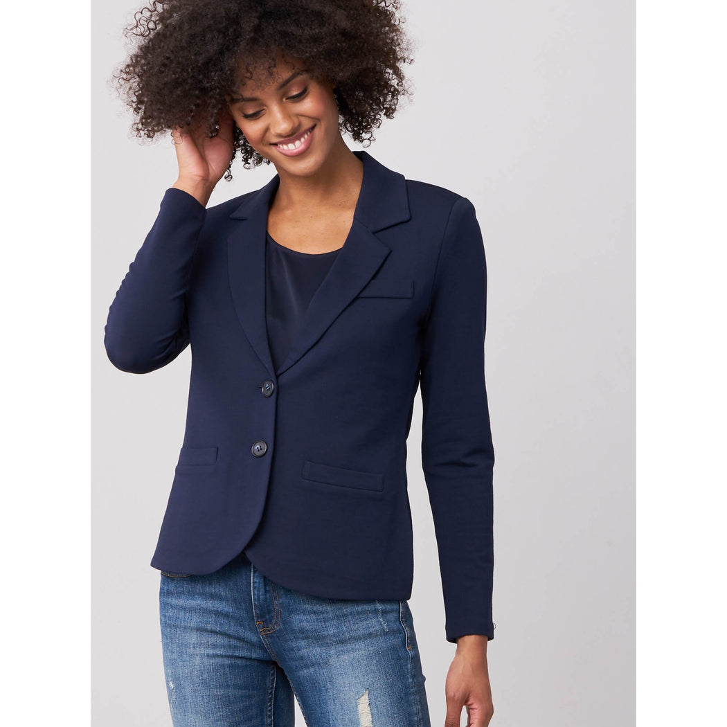 REPEAT Cashmere Modal/Cotton Sweatshirt Blazer 500044|Clearance Final Sale