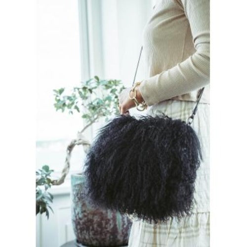 Natures Collection Jasmine Muff Bag | Solid Black